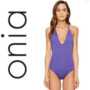 Onia Nina One Piece Swimsuit in Deep Royal Small